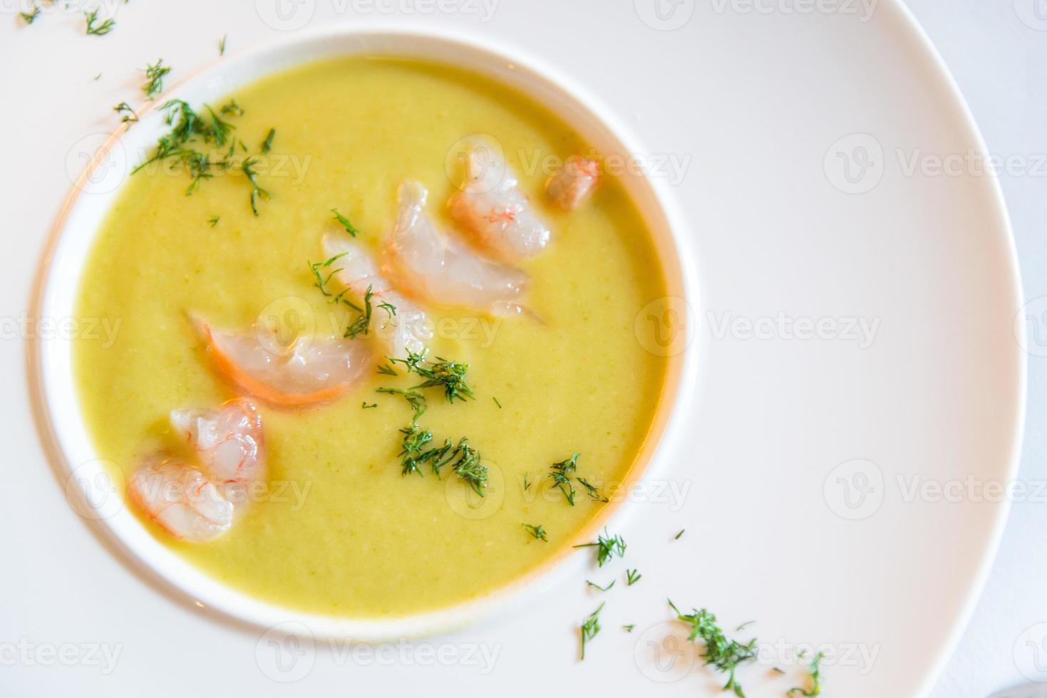 Shrimp soup photo
