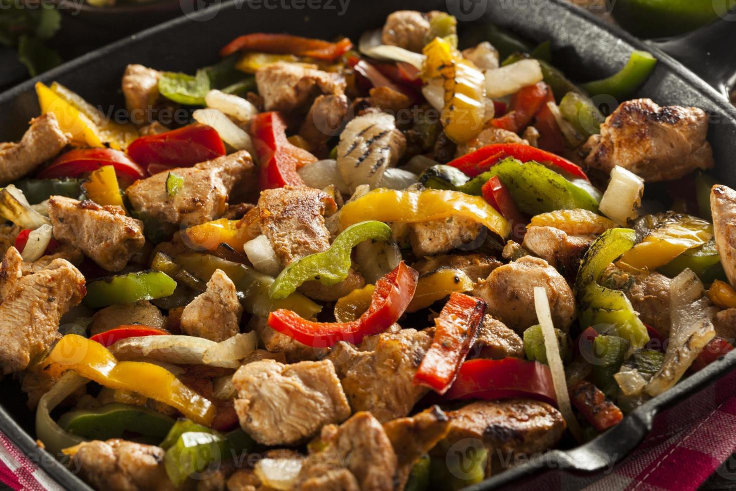 Homemade Chicken Fajitas with Vegetables photo