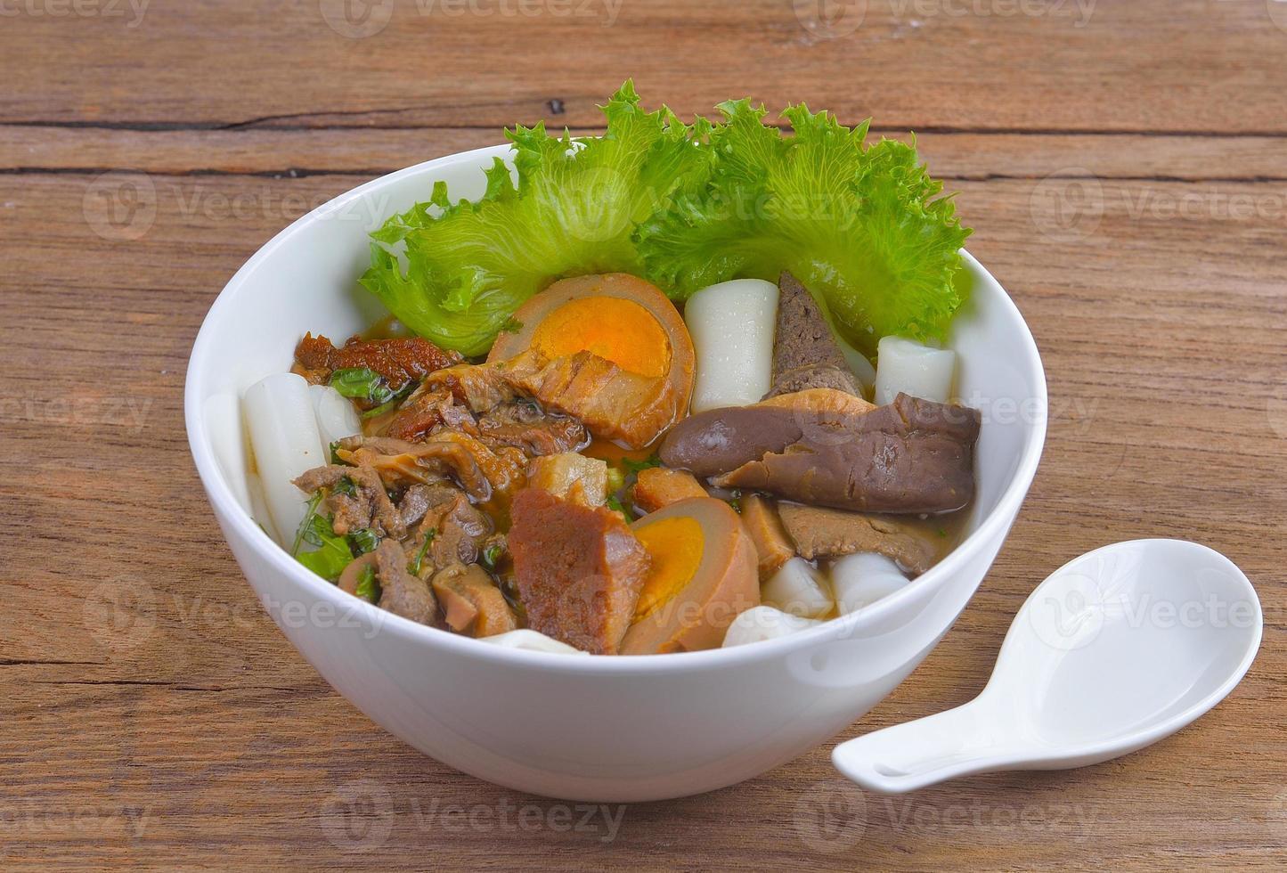 Paste of rice flour photo
