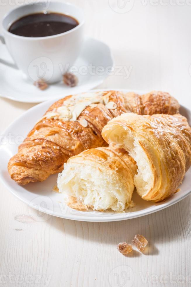 Fresh baked croissants photo