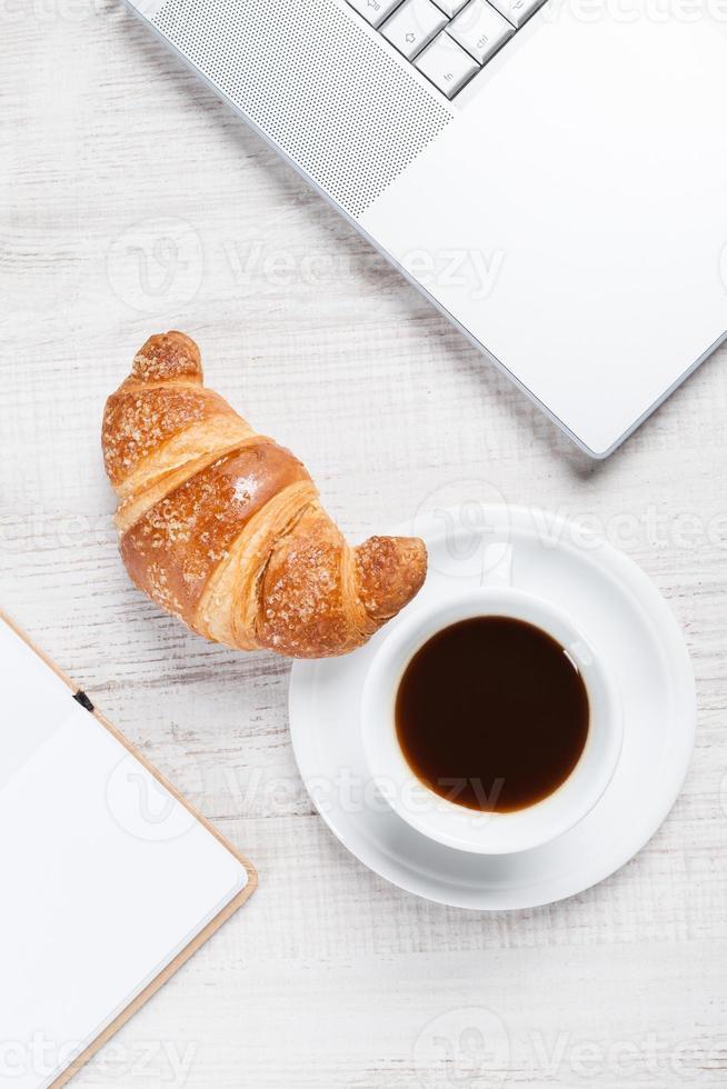 Notebook on Coffee Break; photo