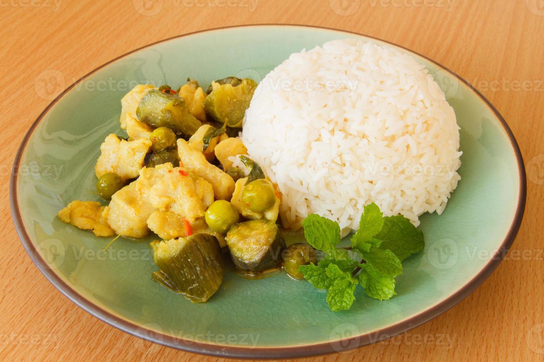 Tailandia comida verde curry foto