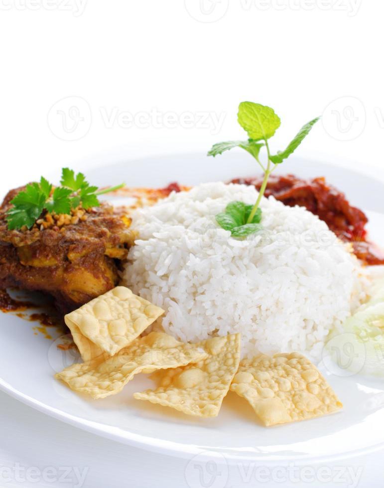 comida malaya nasi lemak foto