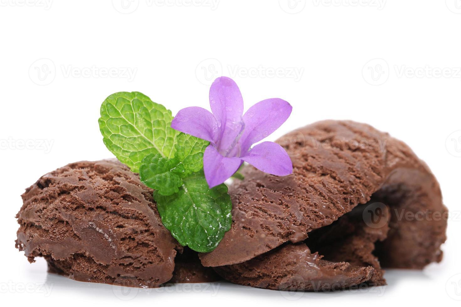 helado de chocolate foto
