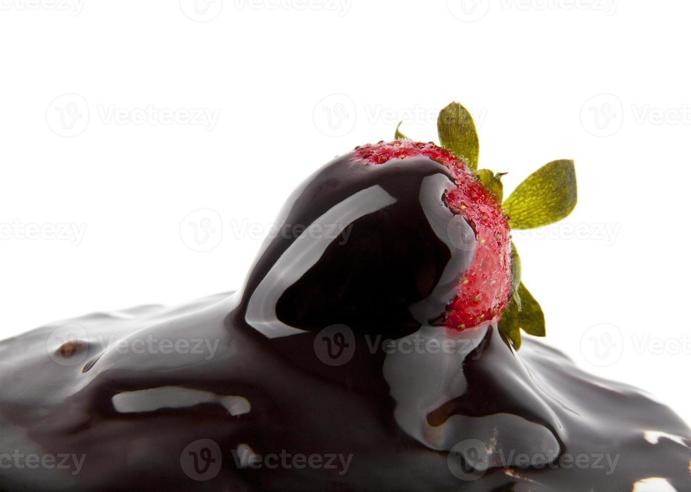 fresa en un chocolate foto