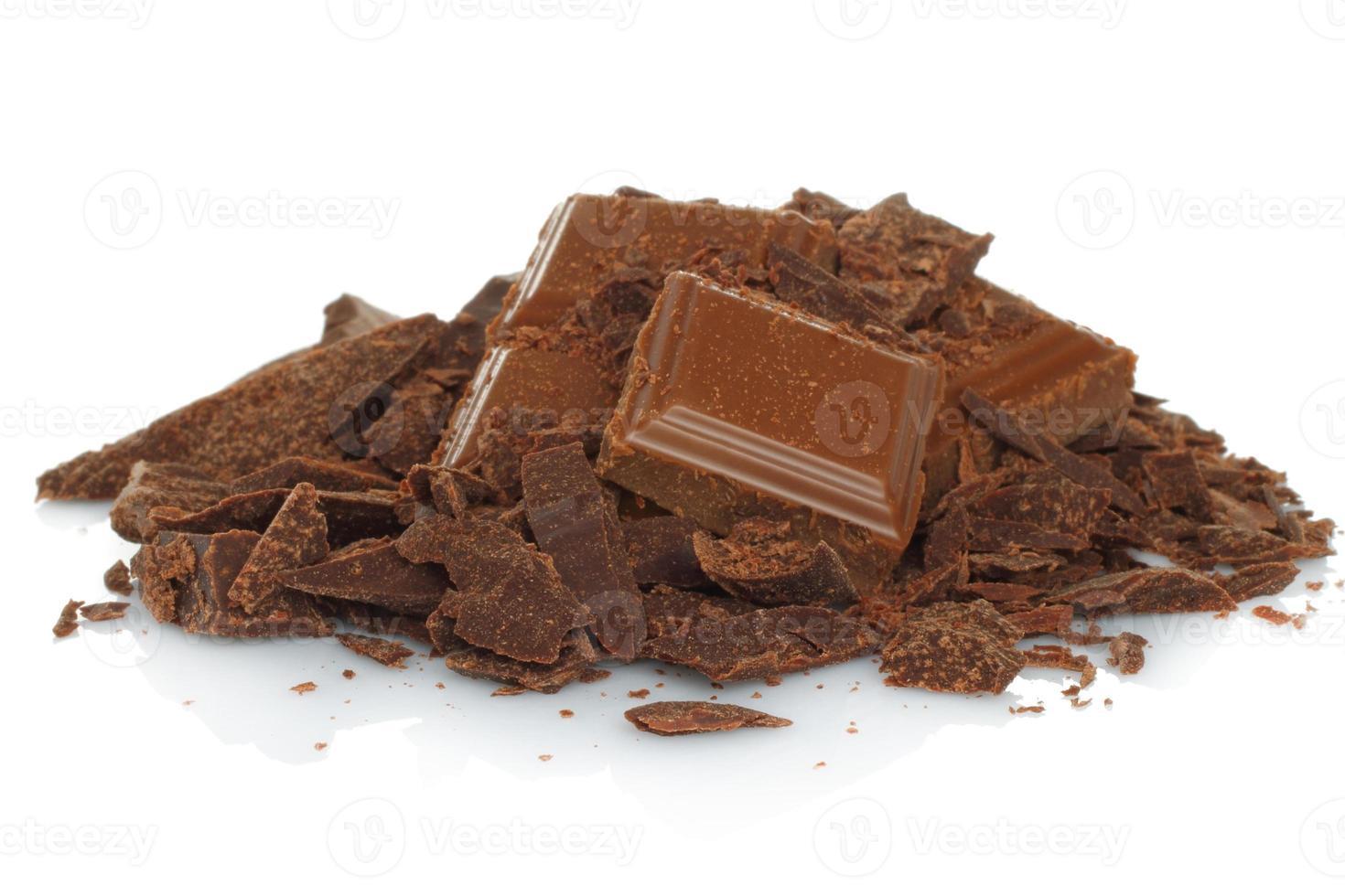 Broken milk chocolate bar photo