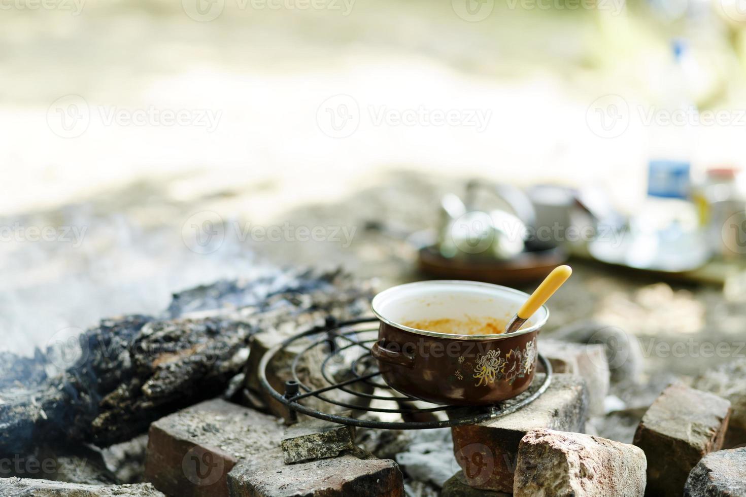 cocina de campamento foto