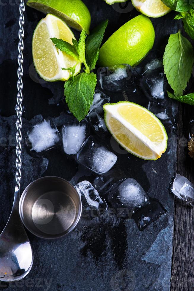 Ingredients for summer mojito photo