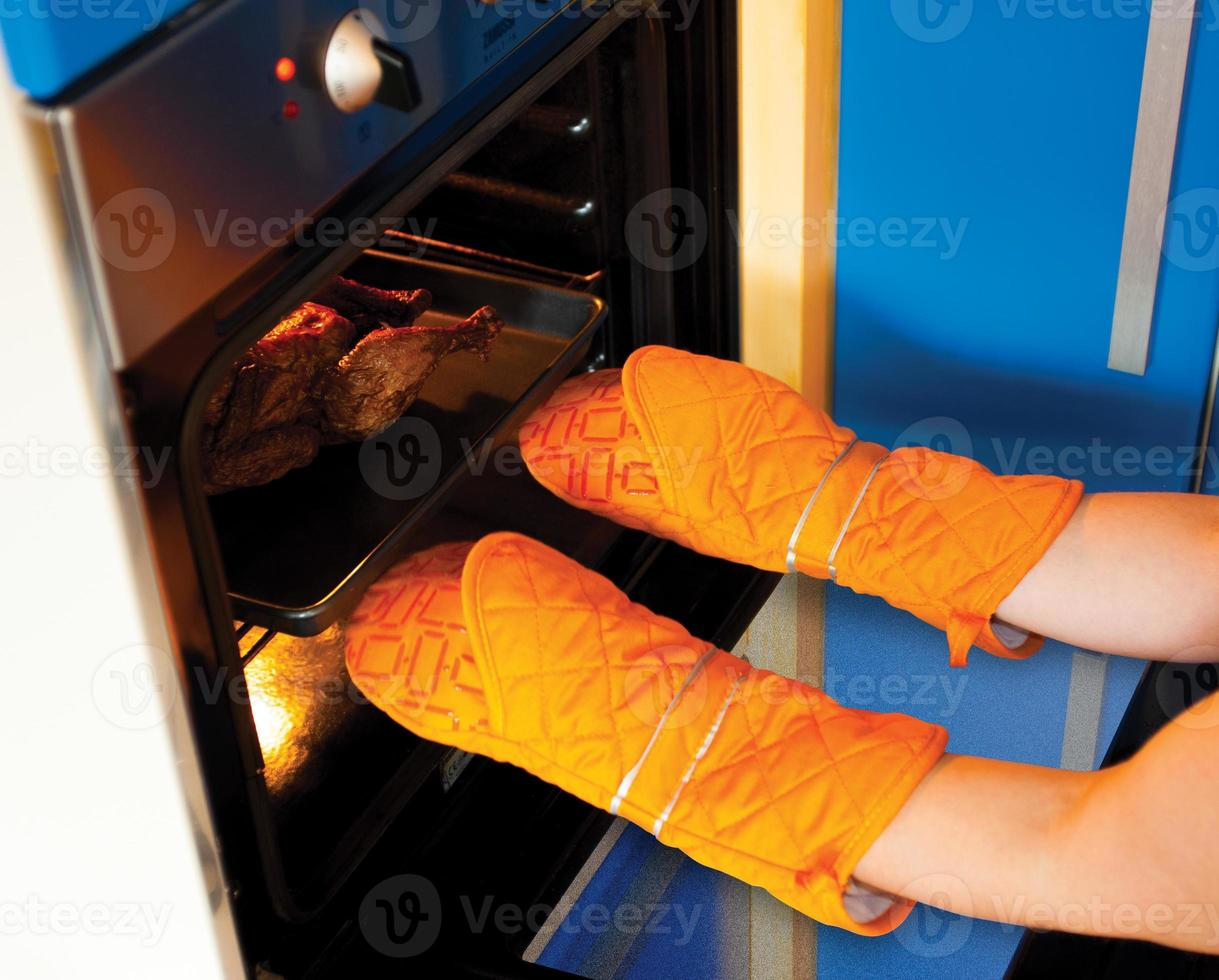 guantes de cocina foto