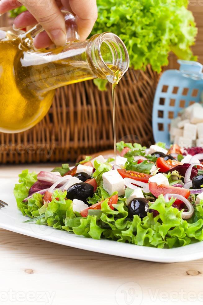 Fresh Greek salad photo