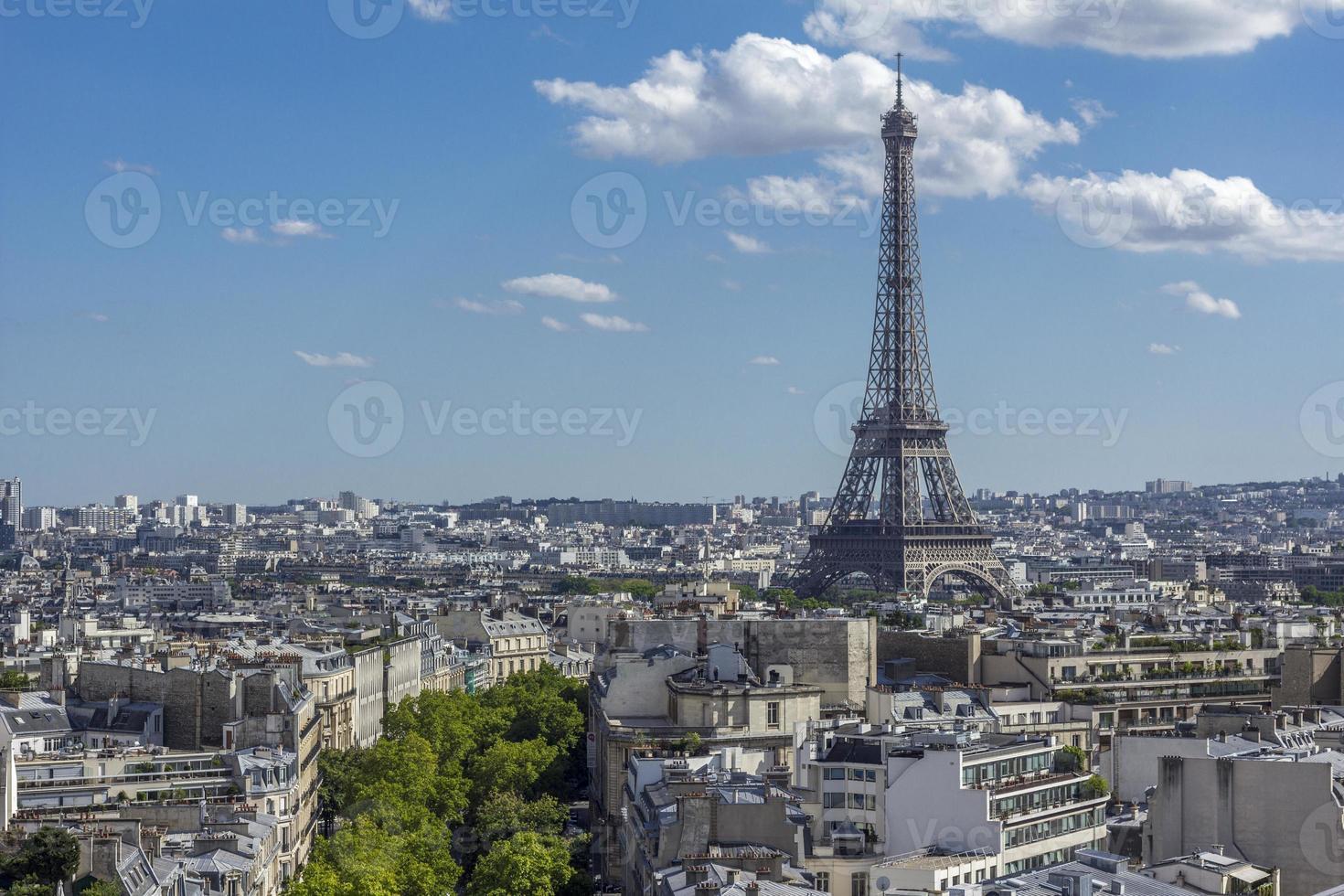 Paris skyline Eiffel Tower photo