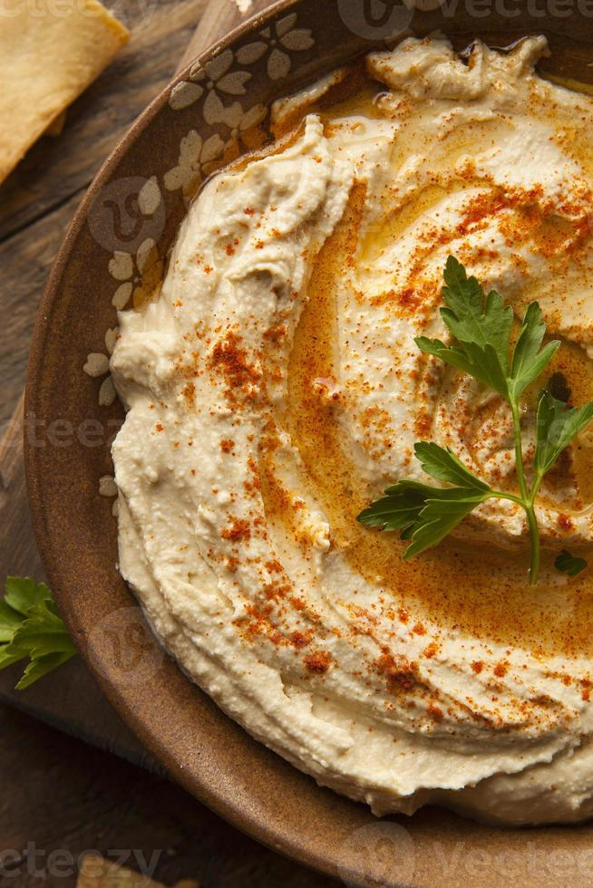 Healthy Homemade Creamy Hummus photo