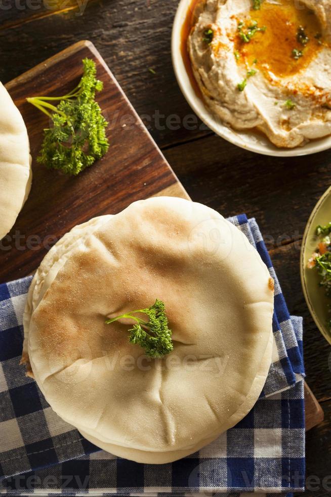 pan de pita orgánico casero foto