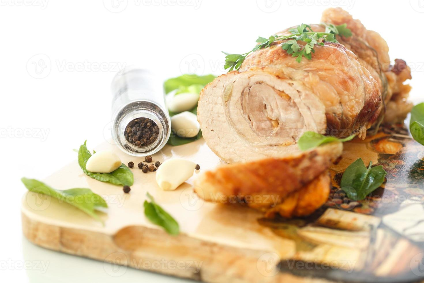 baked meat photo