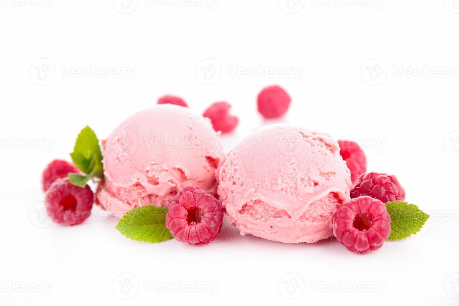 helado de bayas foto