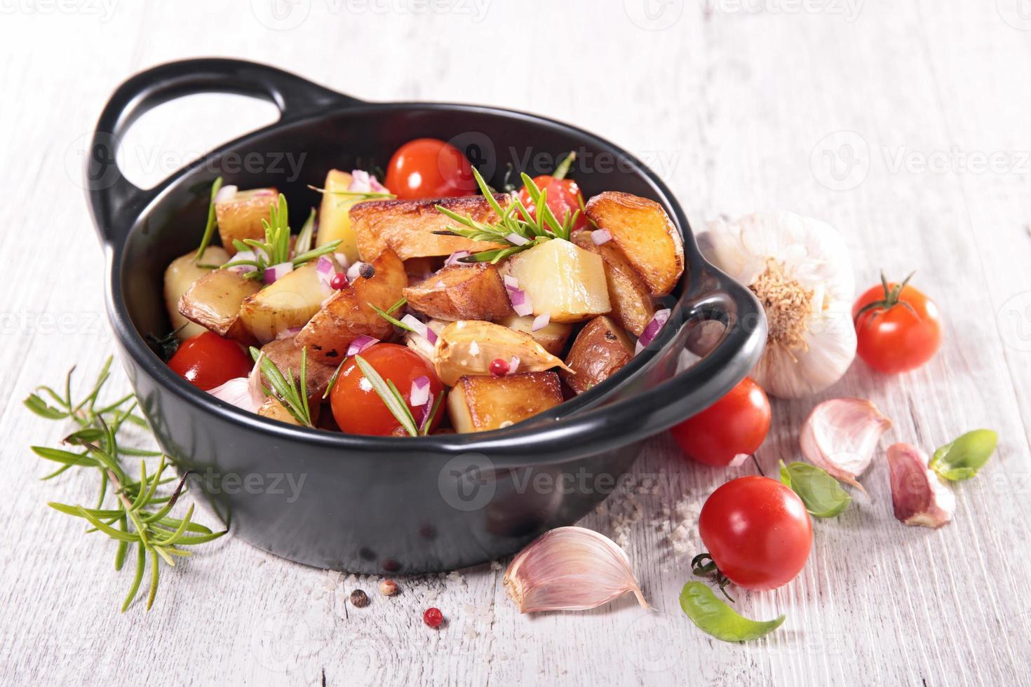 vegetales horneados foto