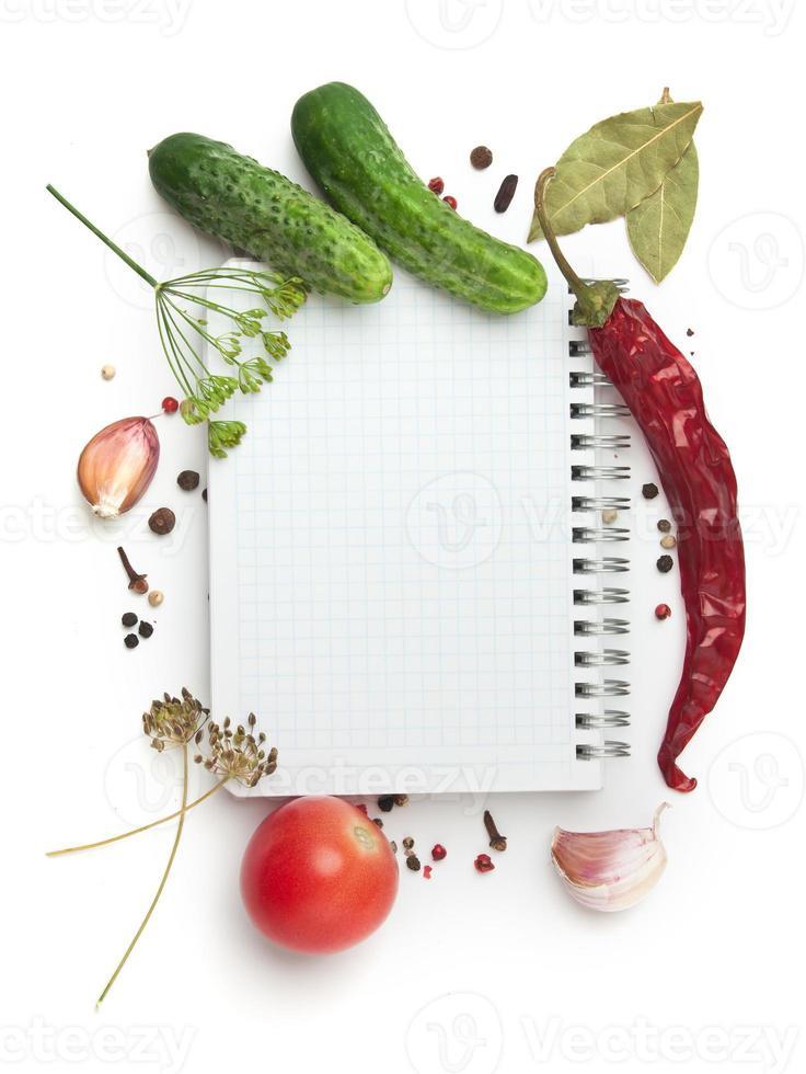 cuaderno con recetas foto