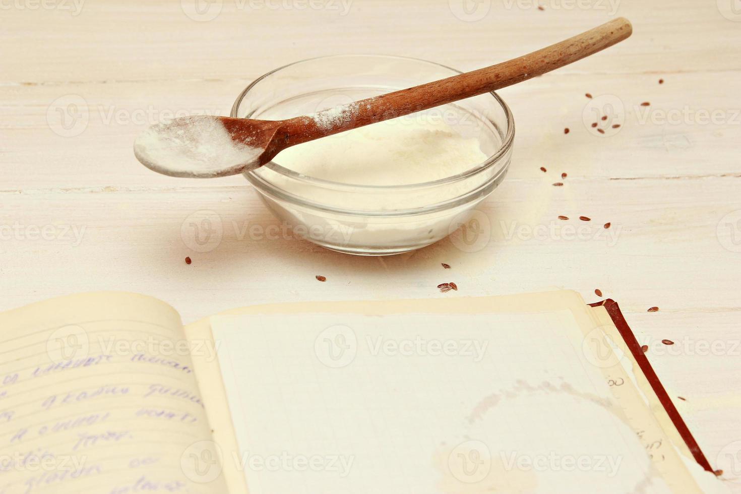 blanco papier voor recepten foto