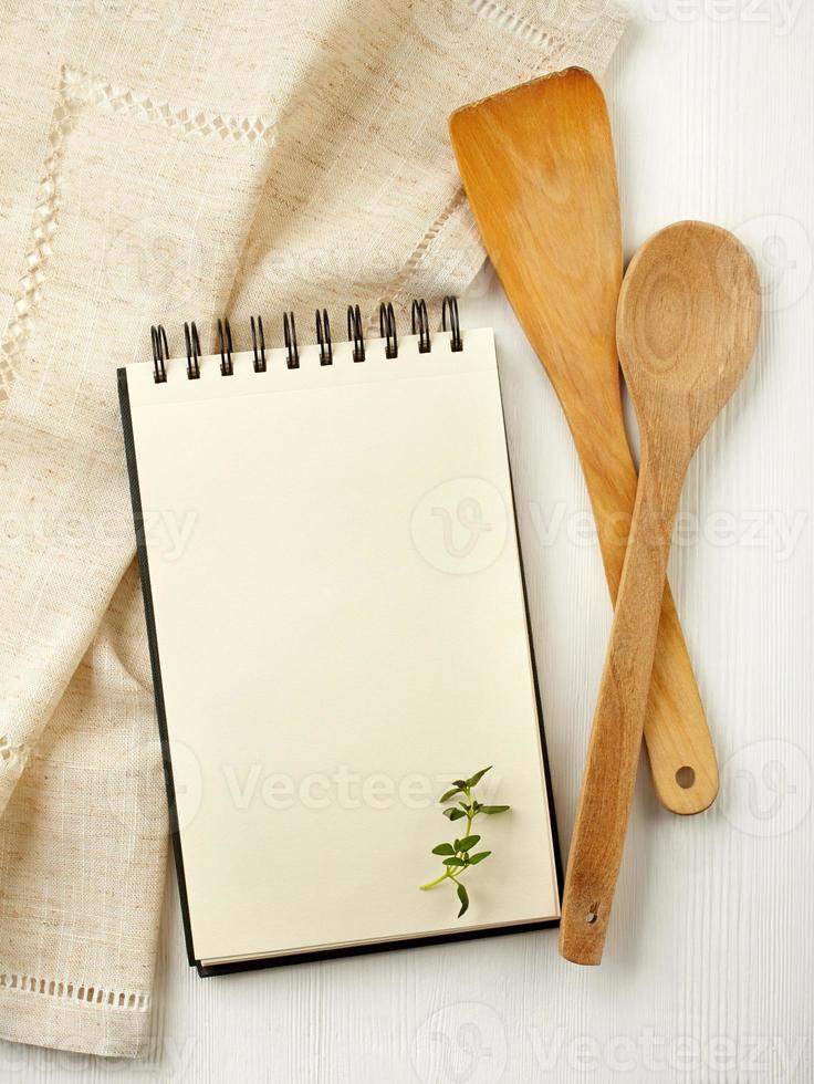 Blank recipe book photo
