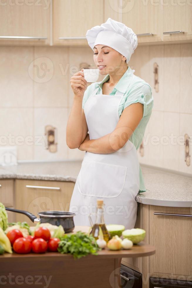 chef chica foto