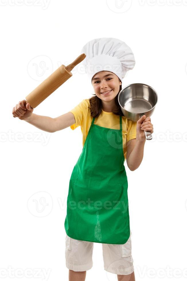 joven chef foto
