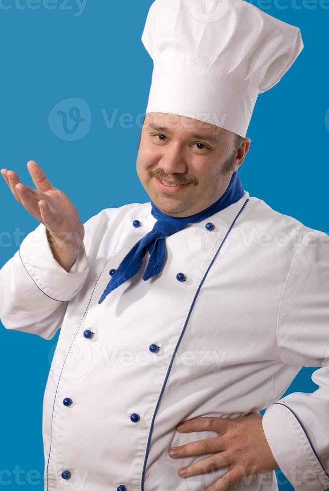 cozinheiro atraente feliz foto