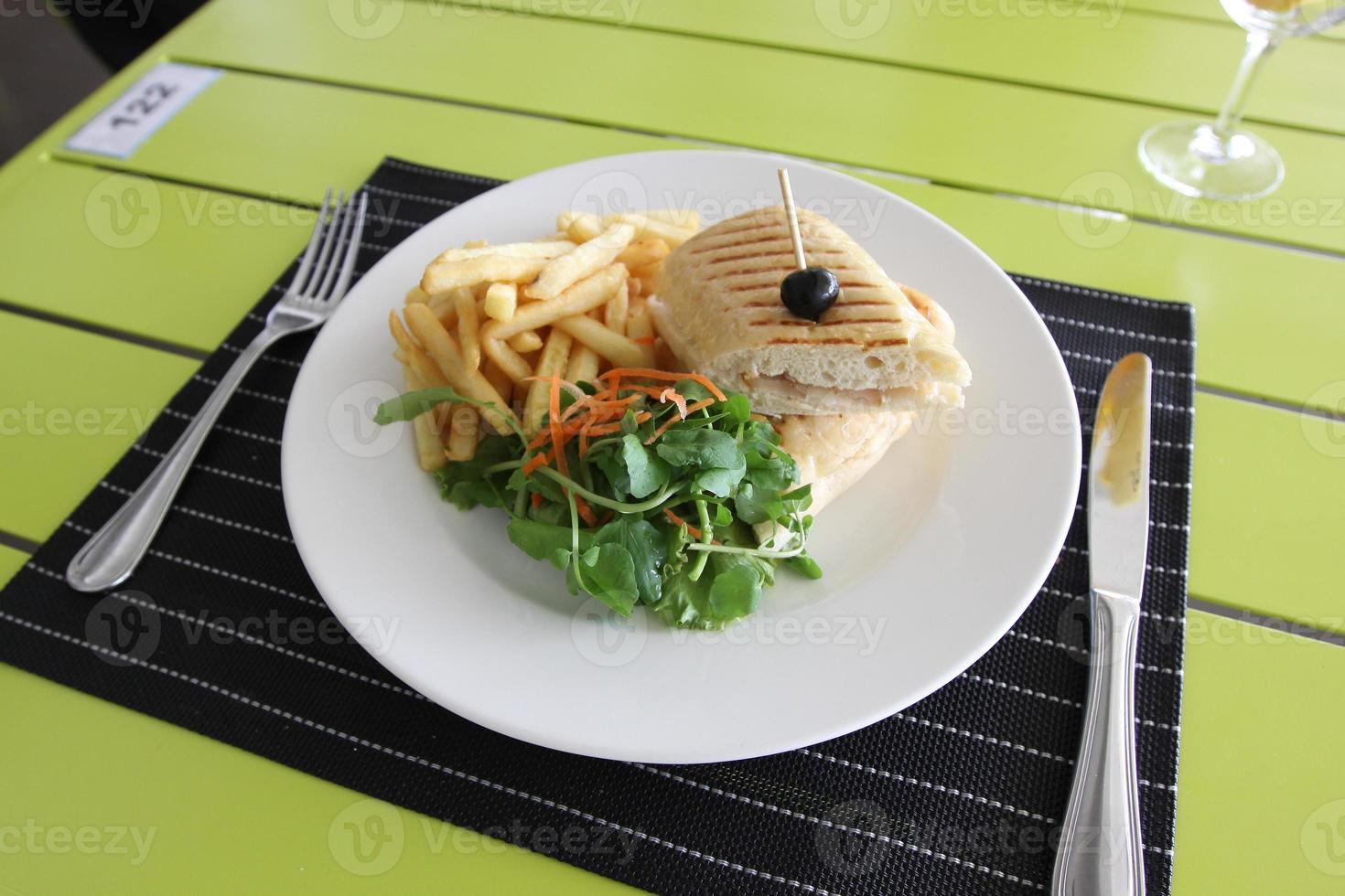 menú del restaurante foto