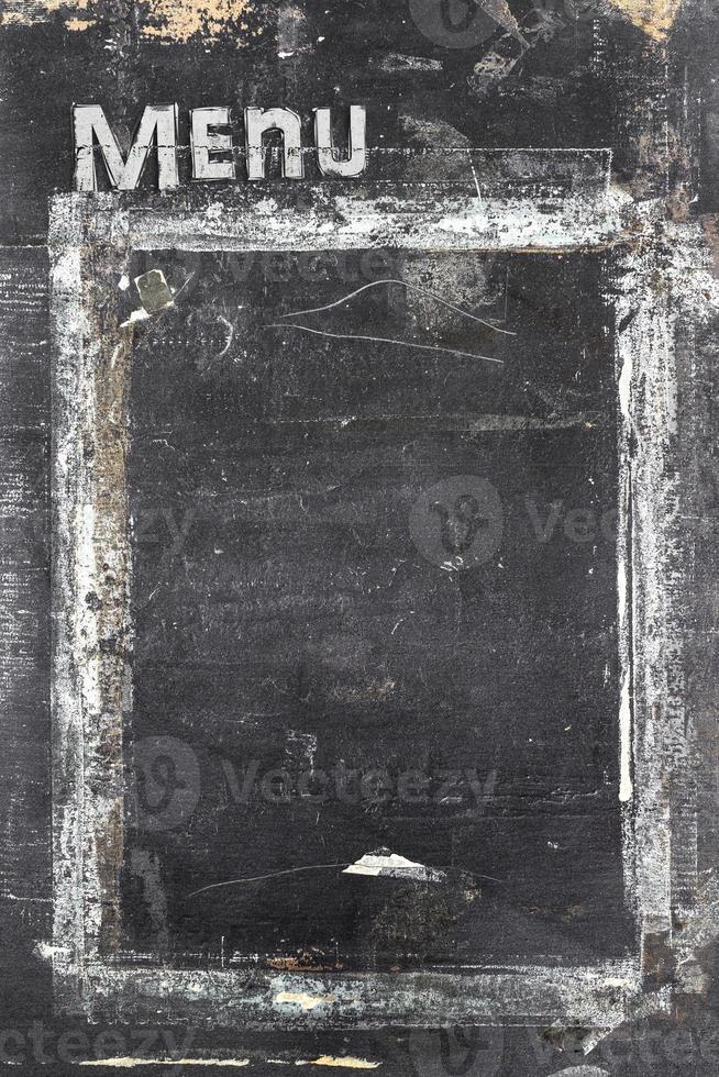 menu do quadro-negro foto