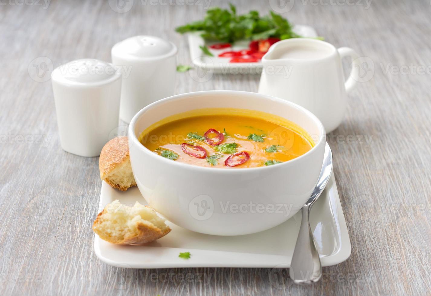 sopa de calabaza foto