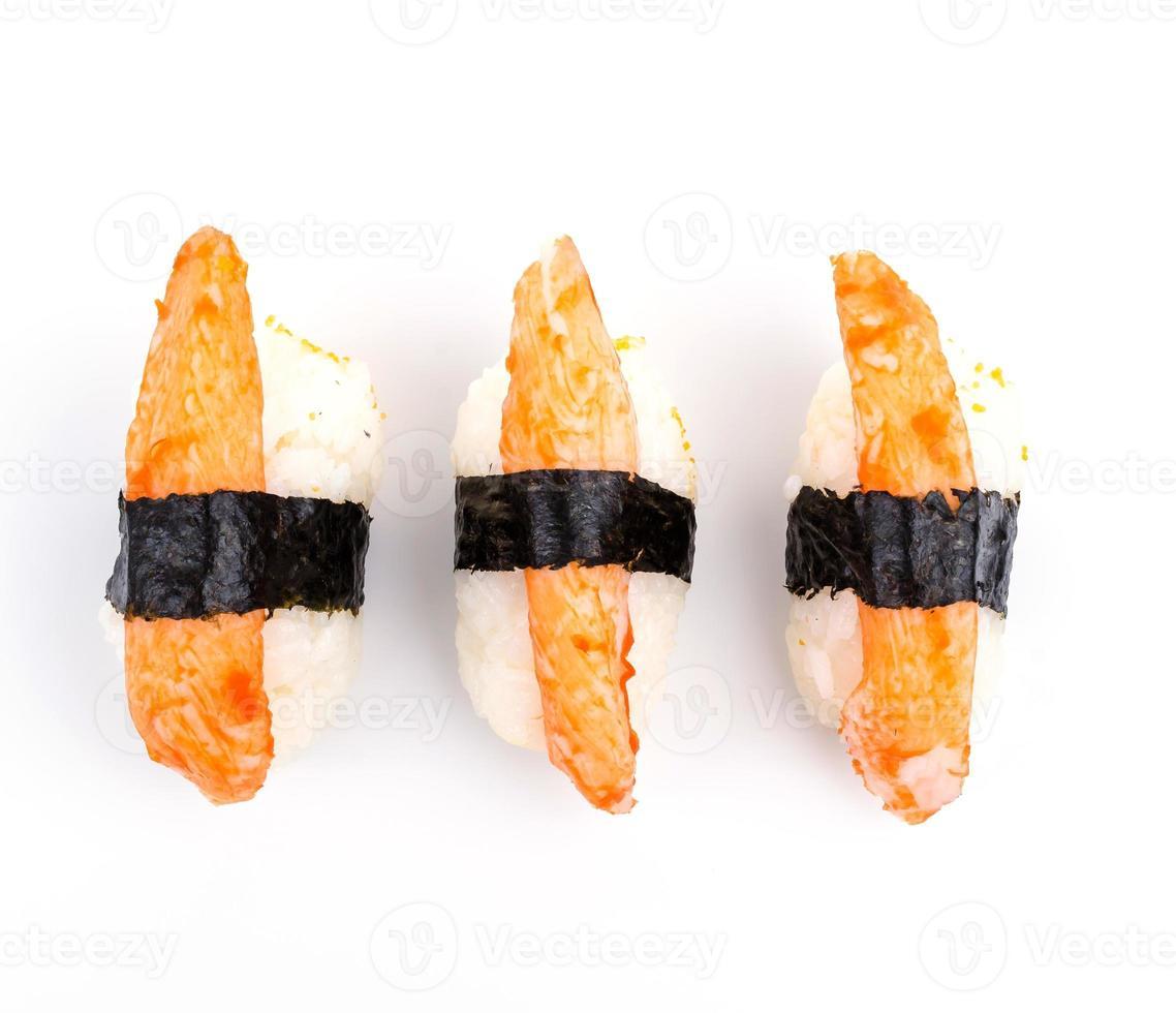 palito de cangrejo de sushi foto