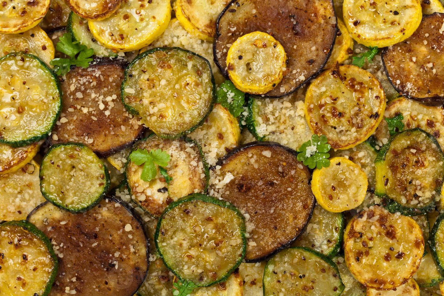 Sauteed Vegetables With Parmesan Cheese photo