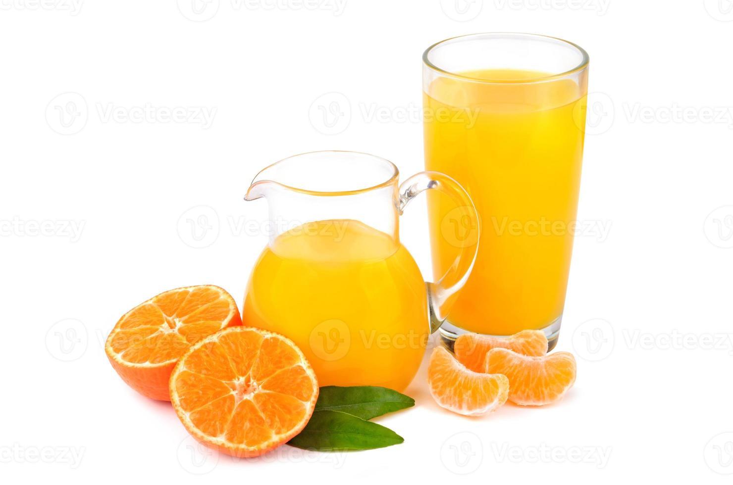 suco de tangerinas foto