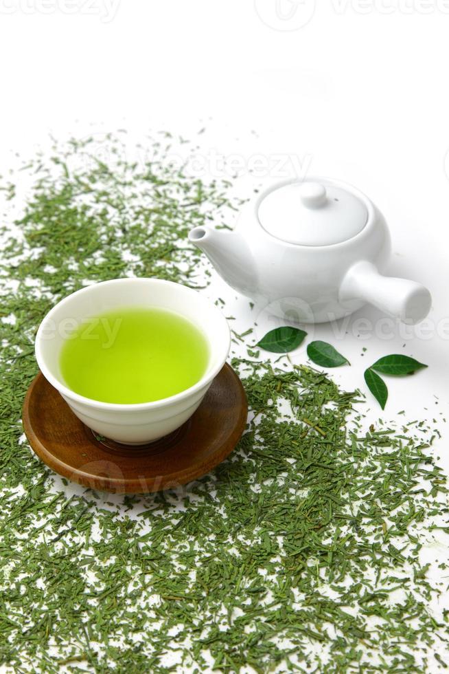 chá verde jananese foto