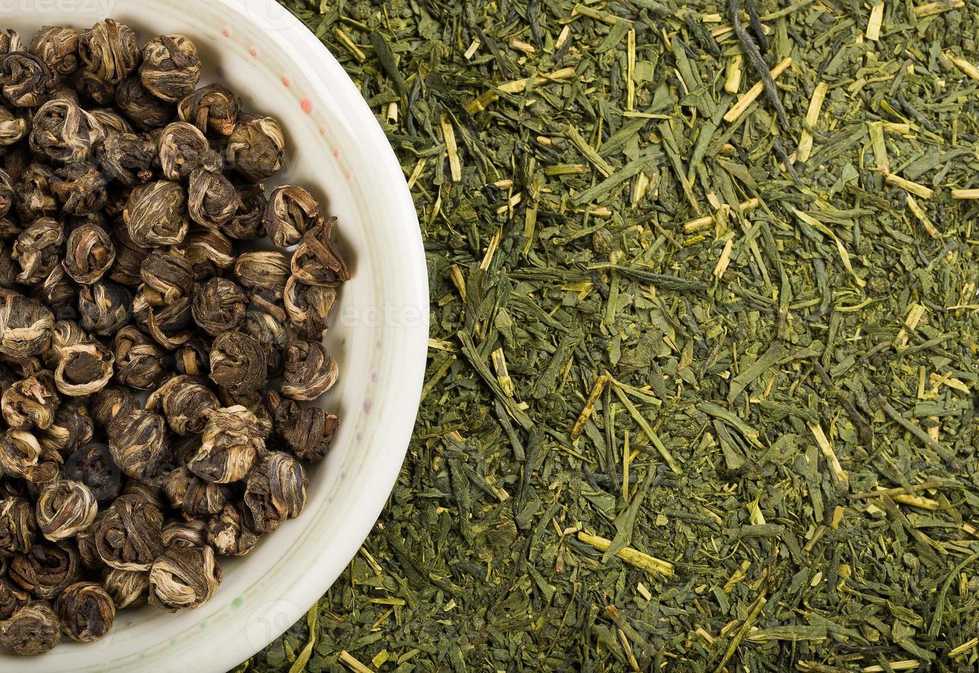 jogo de chá verde foto