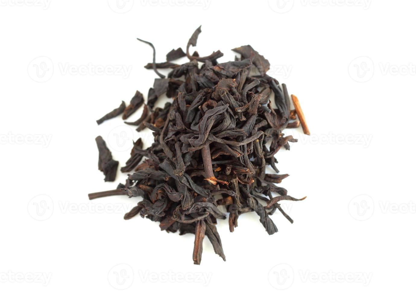hojas de té foto