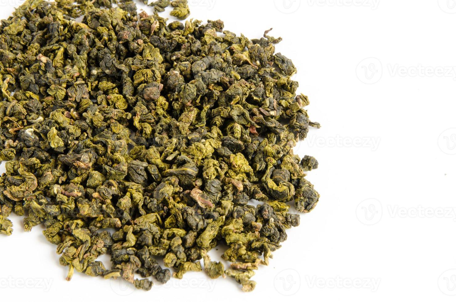 droge groene thee foto