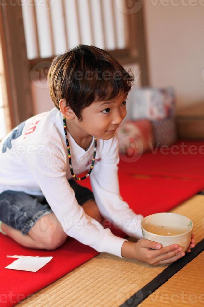 ceremonia japonesa del té foto