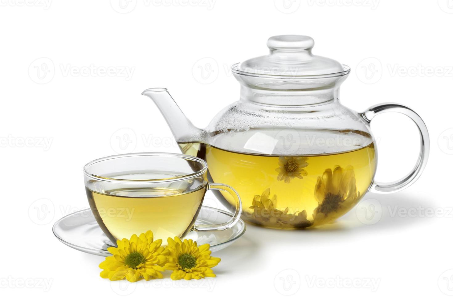 chá de crisântemo chinês foto