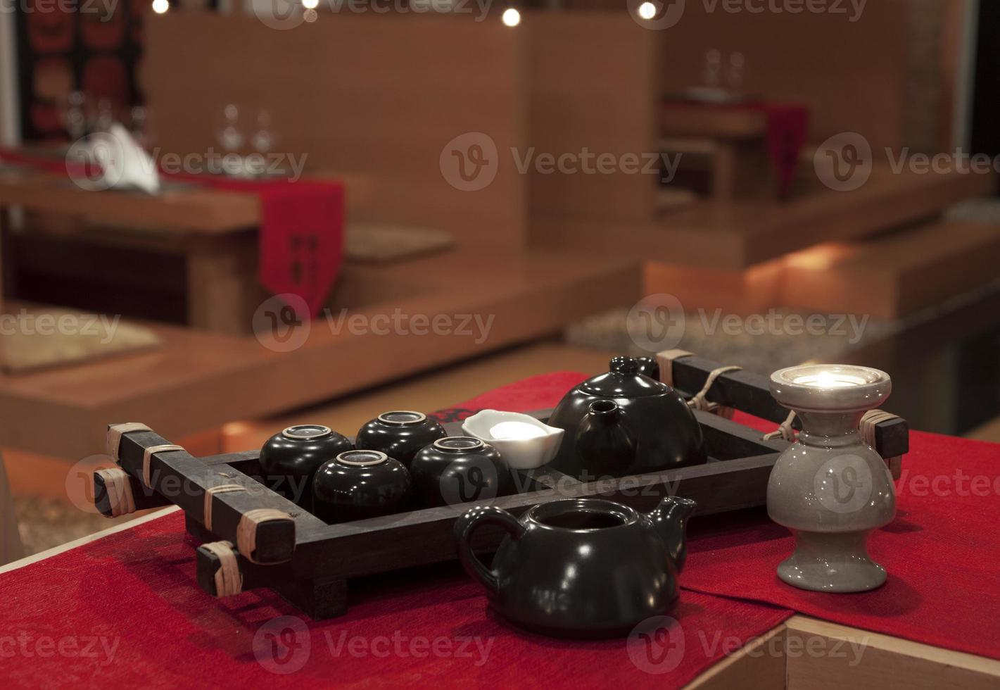 conjunto de cerimônia de chá chinês foto