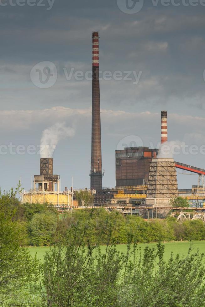 Polonia, zabrze, planta de coque de biskupice foto