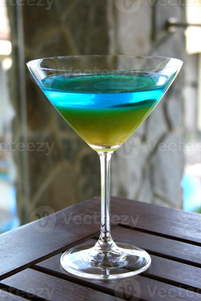 Multicolored Cocktail with Lemon photo