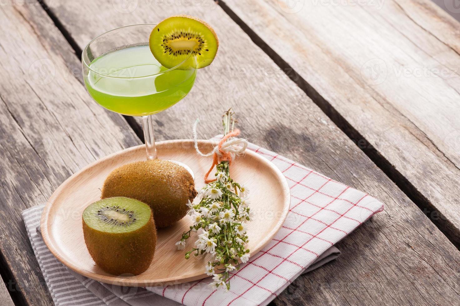 jugo de kiwi foto