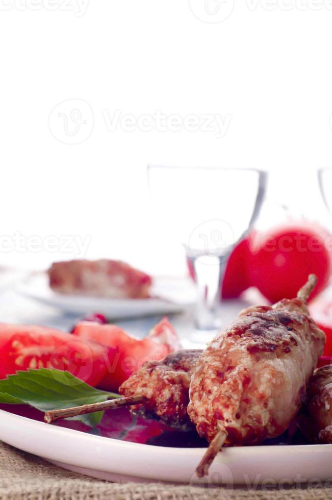 kebab de cordero picado foto