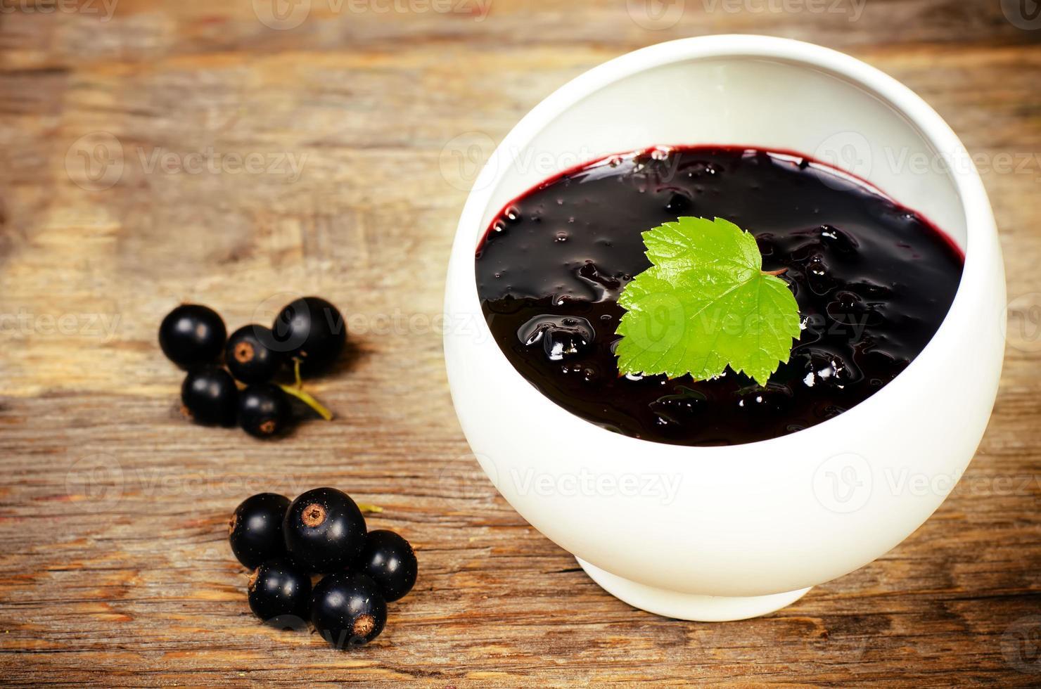 black currants jam photo