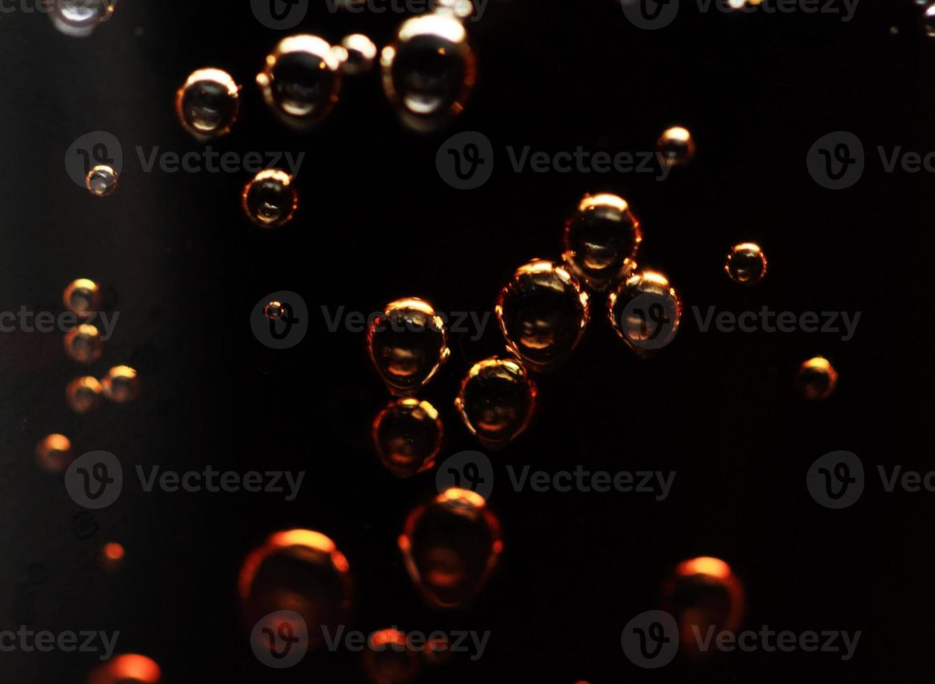 Cola bubbles photo