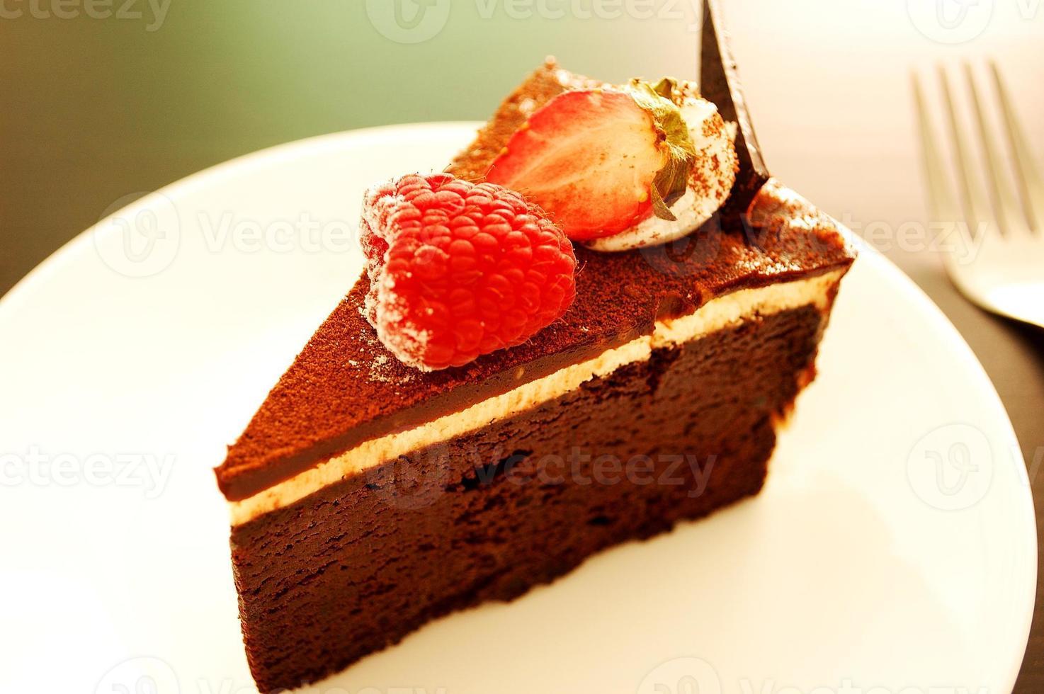 soufflé de dulce de chocolate suave foto