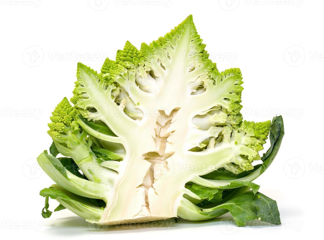 Half Green Fresh Romanesque Cauliflower photo