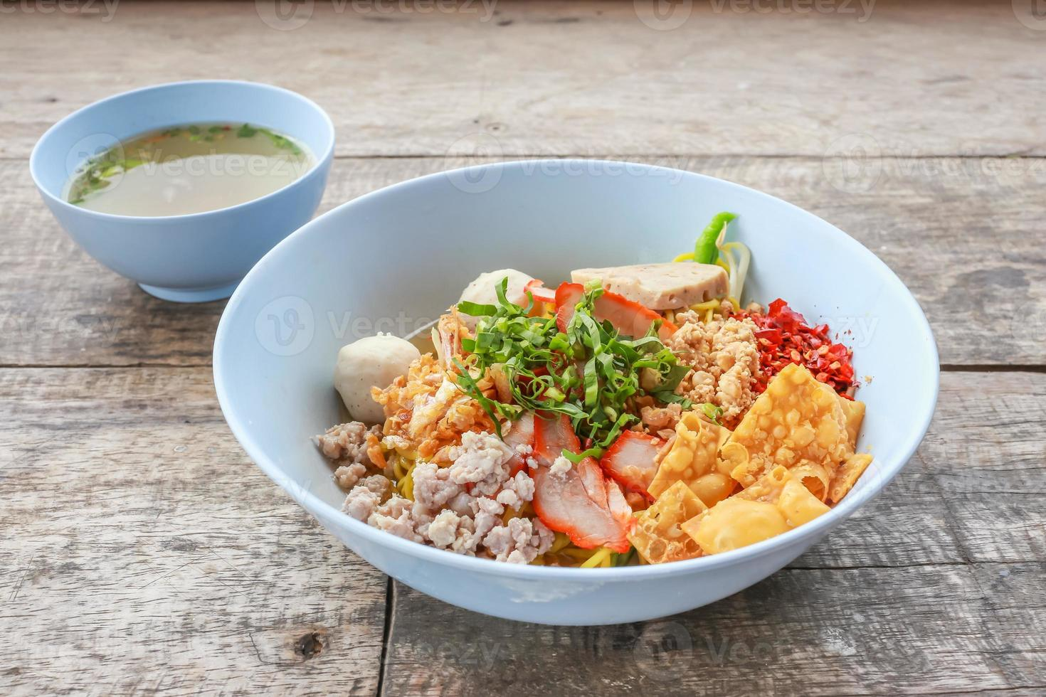noodle tom yum with pork photo