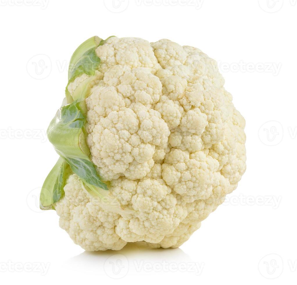 fresh cauliflower on white background photo