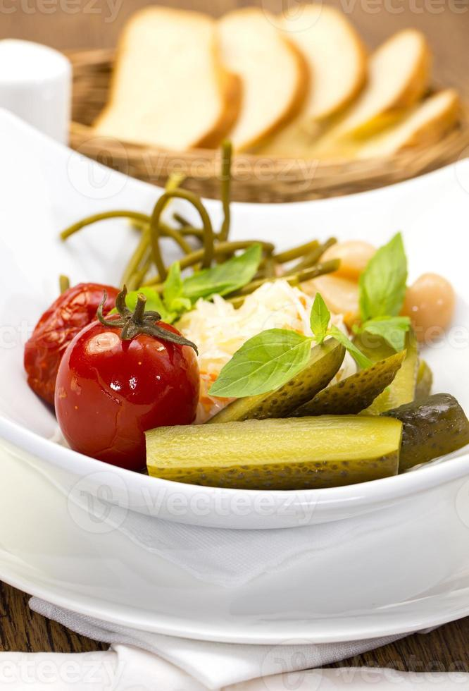 pickles on a plate photo